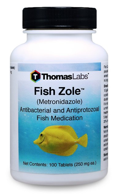 Fish Zole is a very water soluble metronidazole for aquarium fish